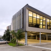Rylock Auckland supplied and installed Fletcher Window and architecture, building, commercial building, condominium, corporate headquarters, facade, headquarters, house, mixed use, real estate, residential area, white, gray