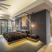 Using the same motifs and design elements gives ceiling, floor, flooring, home, interior design, living room, real estate, room, wall, gray
