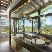 This glass panel between the shower and vanity house, interior design, living room, real estate, window, brown