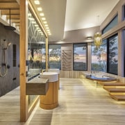 All is not as it seems in this architecture, estate, floor, hardwood, house, interior design, real estate, wood, orange