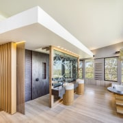 Like the dressing room behind it, this shower ceiling, estate, home, interior design, living room, real estate, gray