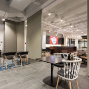 Trans-Space supplied and installed this SpaceSeal 400 Series flooring, interior design, office, table, gray