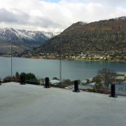 Satin black balustrade clamps were just one of alps, cloud, highland, hill station, lake, lake district, loch, mountain, mountain range, mountainous landforms, sky, snow, water, winter, gray, black