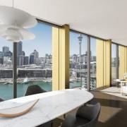 A perspective of an apartment in Willis Bonds apartment, architecture, condominium, interior design, penthouse apartment, real estate, room, white