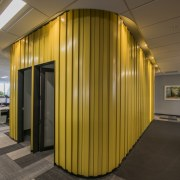 As part of UniMeds top floor fit-out in architecture, ceiling, interior design, lobby, brown