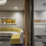 Sliding doors  office meets meeting room in ceiling, interior design, product design, gray