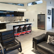 Kitchen Mania created this kitchen in response to interior design, gray, black