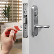 The Selector 3700 Series Mortice Lock has a lock, product design, gray