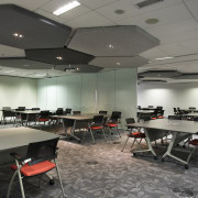 Training rooms on the community floor of the ceiling, classroom, conference hall, interior design, office, gray, black