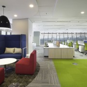 A typical AMGeneral back-office floor  the vivid architecture, interior design, living room, office, real estate, gray