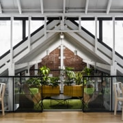 One of many individualistic breakout and collaboration spaces interior design, loft, white