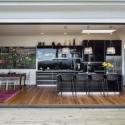 Inside out  this kitchen sits directly opposite interior design, kitchen, gray