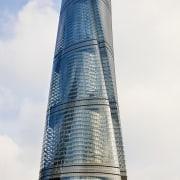 Structurally, the Shanghai Tower consists of a stack architecture, building, condominium, corporate headquarters, daytime, landmark, metropolis, metropolitan area, sky, skyscraper, spire, tower, tower block, white