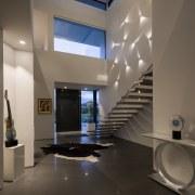 Grand entrance  architect Wayne Houston of Wayne architecture, ceiling, daylighting, floor, house, interior design, lobby, brown, black
