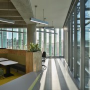 Armstrong Aluminium perimeter pelmets bridge the gap between architecture, daylighting, interior design, office, gray