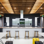Fisher & Paykels Social Kitchen is at the interior design, office, product design, white, brown