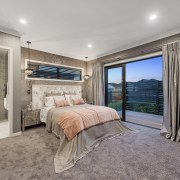 Positioned at the outer end of the private bedroom, ceiling, estate, home, interior design, property, real estate, room, gray