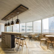 Positioned on the harbour side of the whole-floor architecture, ceiling, daylighting, interior design, real estate, table, brown, gray