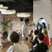 The workplace is evolving as technology enables people furniture, interior design, gray, black