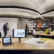 Data-led research by Unispace suggests that what workers institution, interior design, office, product design, gray, black