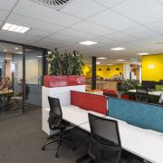 Bizdojos 1100m² premises at the Christchurch Innovation Precinct interior design, office, real estate, gray