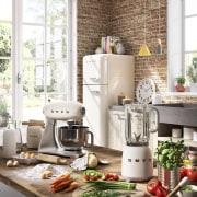 Soft pastels, bold colours, crisp, elegant white or home, interior design, kitchen, small appliance, white, brown
