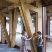 These LVL frames had been meticulously designed and architecture, beam, furniture, home, house, log cabin, table, window, wood, brown