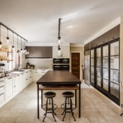 Same space, quite different agenda  this reinvented cabinetry, countertop, cuisine classique, interior design, kitchen, gray