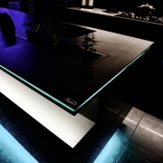 Clean, crisp design lines are a hallmark of darkness, design, light, photography, product design, table, technology, black