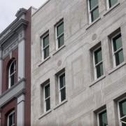 Architects Peddle Thorp say the two different facade apartment, architecture, building, city, condominium, daytime, facade, house, landmark, metropolis, metropolitan area, neighbourhood, window, gray