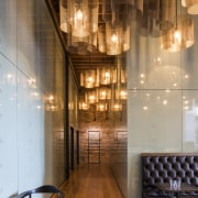 The new lobby in the reinvented Australis Nathan architecture, ceiling, interior design, lobby, wood, brown