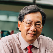Dr John Keung, Dean at the Building and elder, glasses, human, person, professional, senior citizen, smile, vision care, gray