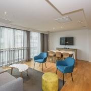 The QUBA complex in Quay Park, has been apartment, ceiling, floor, interior design, living room, real estate, room, gray