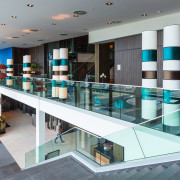 The Flex Fit system from Monkey Toe Group glass, interior design, gray