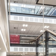 Forman Building Systems supplied the ceilings and wall architecture, building, ceiling, daylighting, glass, interior design, window, gray