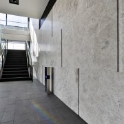 Tundra marble slabs supplied and installed by The architecture, building, concrete, daylighting, facade, floor, house, structure, wall, gray