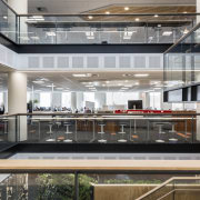 Architectus design for the new Datacom building allows building, lobby, mixed use, gray, black