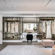 Fresh use  original windows. Home becomes haute ceiling, interior design, lobby, room, gray