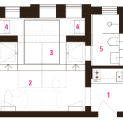 Architect Prineas studio renovation  after: 1 kitchen/entry, area, design, floor plan, line, pattern, plan, product design, schematic, square, text, white