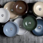 Colour my project  vibrancy in the bathroom circle, product, product design, gray, black