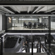Staff amenities, servicing and parking occupy the basement automotive design, automotive exterior, public transport, black, gray