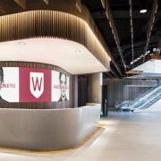The reception at 1 Parramatta Square, the new design, interior design, product design, white