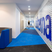 Walk this way  designed by Woodhams Meikle architecture, blue, interior design, white