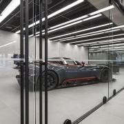 Warren and Mahoney Architects specified Chants Line handles automotive design, automotive exterior, glass, metal, steel, structure, gray, black
