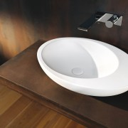 Easy on the eye and smooth to the bathroom sink, ceramic, plumbing fixture, product design, sink, tap, toilet seat, black, brown
