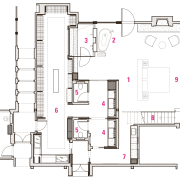 Master suite renovation plan by designer Mick De area, design, diagram, drawing, floor plan, line, plan, product, product design, structure, white