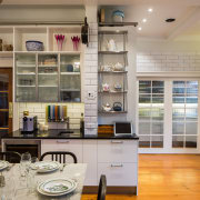 This semi-industrial meets New York deli-style kitchen by cabinetry, countertop, cuisine classique, interior design, kitchen, gray