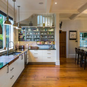 The floors are original and the layout similar countertop, interior design, kitchen, real estate, brown, gray