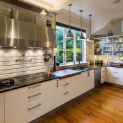 Casual, hard-working and yet perfectly teamed, this kitchen countertop, interior design, kitchen, brown, gray