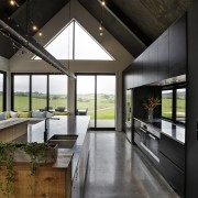 Room with quite a view  this kitchen architecture, house, interior design, black